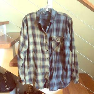 TOPSHOP // two tone plaid flannel